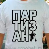 Partizan - Majica bela