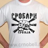 Grobari Srbija - Majica bela