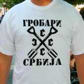 Grobari SSSS Srbija - Majica bela